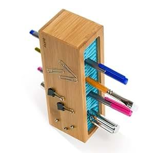 Quirky ペンゼン ペン立て ブルー デスクの上の静けさ QR-PZN1-BL