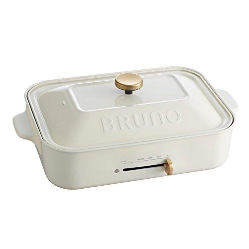 BRUNO コンパクトホットプレート BOE018-WH ホワイト