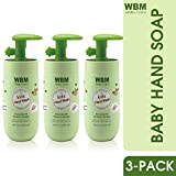 WBM Care Baby Natural Liquid Hand Soap - Honey,Wheatgerm & Organic Olive Oil - 6.8 oz (Pack of 3)