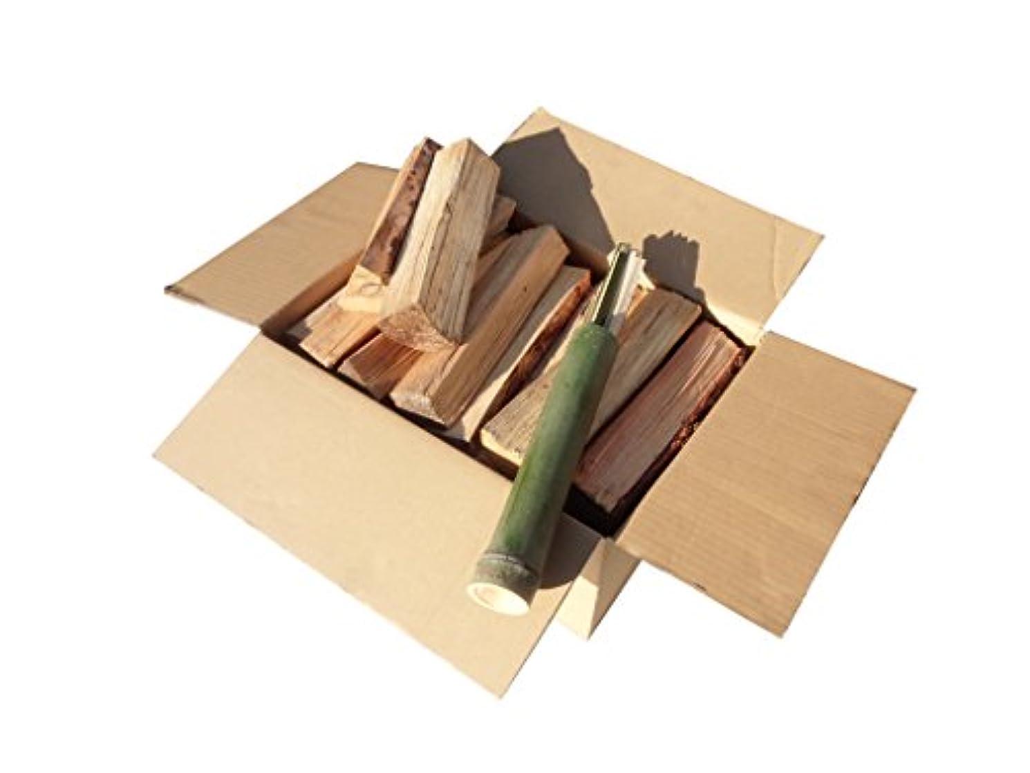 一年乾燥の薪【長野県産】 焚きつけ用の竹セット