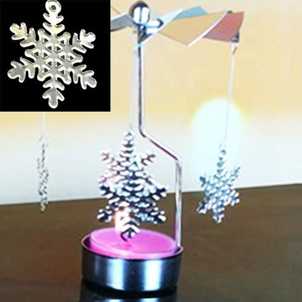 タービン蜜飛行機Labos クリスマス新年のホームデコレーションクリスマスツリーのパターンのメタルファッション回転ローソク足 (色 : Color4)