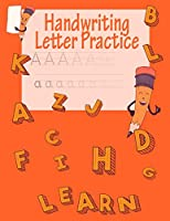 Handwriting Letter Practice: ABC Preparation   Learn Alphabet Print Letters   Primary and Preschool   Orange Letters