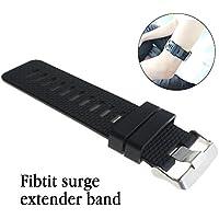 Fitbit Surge Bands-Budesi 2色フリーサイズ交換用ストラップバンド Fitbit Surge Watch Fitness Trackerに対応