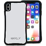 WAYLLY(ウェイリー) iPhone XS Max ケース アイフォンXS MAXケース くっつくケース 着せ替え 耐衝撃 米軍MIL規格 [スモールロゴ ホワイト] MK