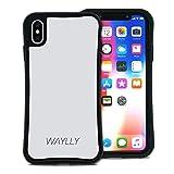 WAYLLY(ウェイリー) iPhone XS Max ケース アイフォンXS MAXケース くっつくケース 着せ替え 耐衝撃 Qi対応 米軍MIL規格 [スモールロゴ ホワイト] MK