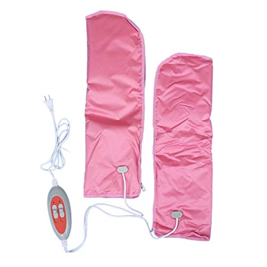 暴動火山等々Lurrose 2PCSプロフェッショナル電気加熱ミトン手袋ワックスマッサージ温水スパハンドケア手袋(ピンク)