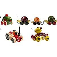 4ピース木製プッシュプル赤ちゃんおもちゃセット:モデルow-gl005