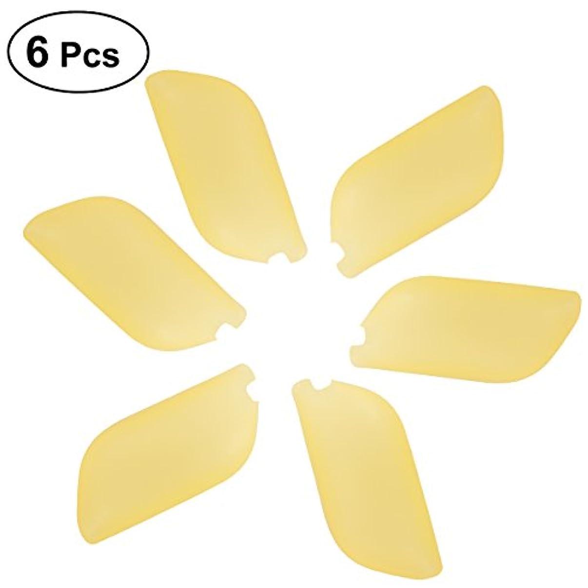 シリングの頭の上概念HEALLILYシリコン歯ブラシヘッドカバーホルダー歯ブラシ保護カバー保護ケース用歯ブラシ6本