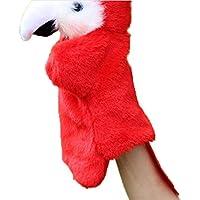 ふく福 可愛い パロット パペット アニマル パペット 人形 可愛い鳥 ぬいぐるみ