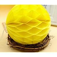 YChoice 可愛い赤ちゃんのおもちゃ ギフト ハニカムボール ティッシュペーパー ポンポン ペーパーボール デコレーション ベビーシャワー 誕生日装飾用 イエロー