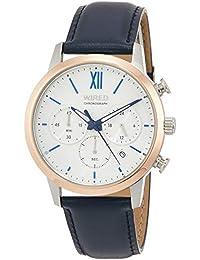 [ワイアード]WIRED 腕時計 WIRED 『祝』限定 限定500本 スワロフスキー??入りホワイト文字盤 クロノグラフ カーブハードレックス 紺カーフ革バンド AGAT725 メンズ