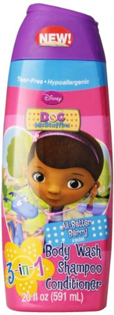 ライブ非公式仲良しDisney Doc Mcstuffins 3 In 1 Body Wash, 20 Oz.