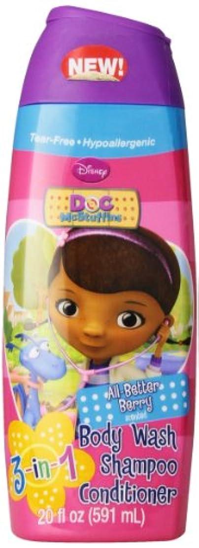 テーブル雄大な身元Disney Doc Mcstuffins 3 In 1 Body Wash, 20 Oz.