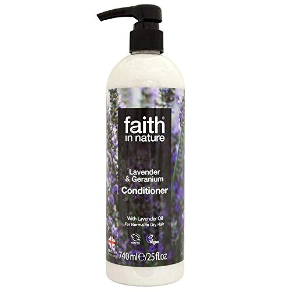 Faith in Nature Lavender & Geranium Conditioner 740ml (Pack of 2) - (Faith In Nature) 自然ラベンダー&ゼラニウムコンディショナー740...