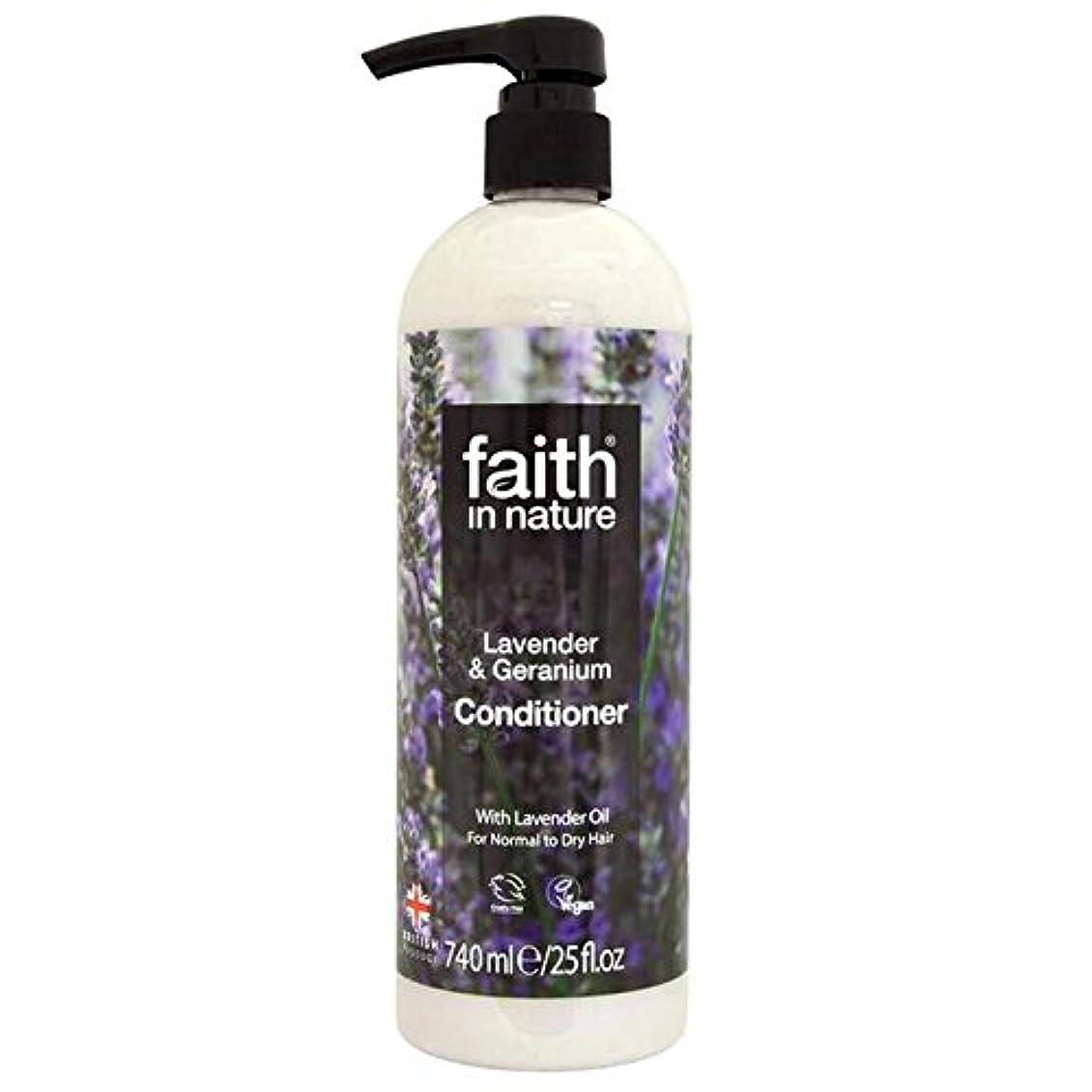 動力学フォーク帆Faith in Nature Lavender & Geranium Conditioner 740ml - (Faith In Nature) 自然ラベンダー&ゼラニウムコンディショナー740ミリリットルの信仰 [並行輸入品]
