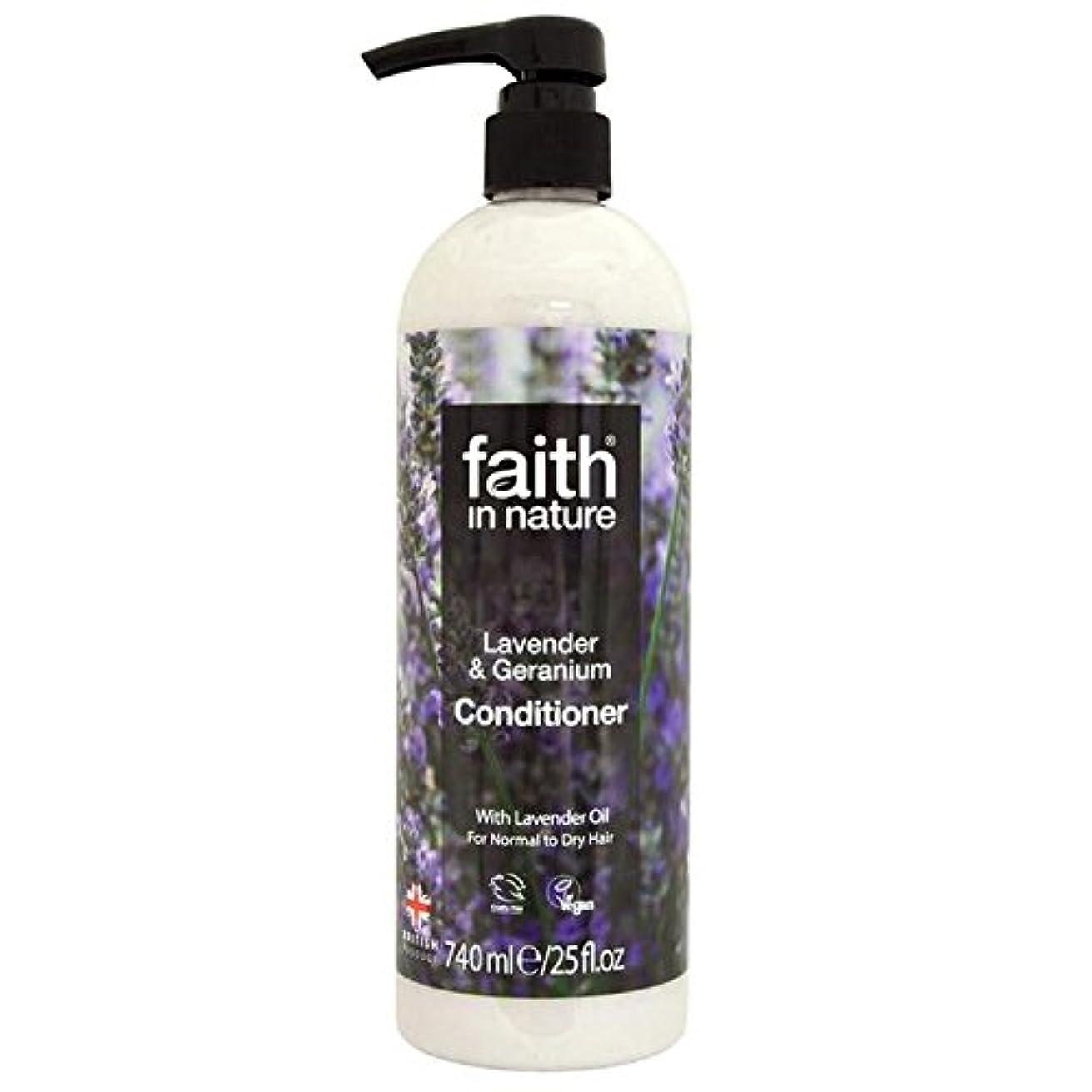 スティック忌み嫌うパターンFaith in Nature Lavender & Geranium Conditioner 740ml (Pack of 6) - (Faith In Nature) 自然ラベンダー&ゼラニウムコンディショナー740...
