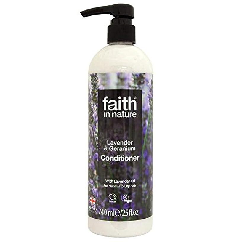 マージン好むおもてなしFaith in Nature Lavender & Geranium Conditioner 740ml (Pack of 4) - (Faith In Nature) 自然ラベンダー&ゼラニウムコンディショナー740...