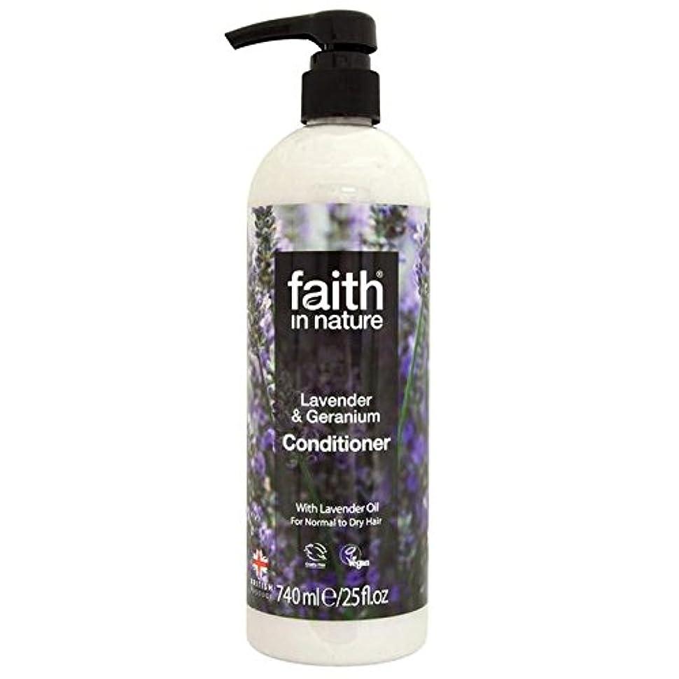中性接続正確なFaith in Nature Lavender & Geranium Conditioner 740ml - (Faith In Nature) 自然ラベンダー&ゼラニウムコンディショナー740ミリリットルの信仰 [並行輸入品]