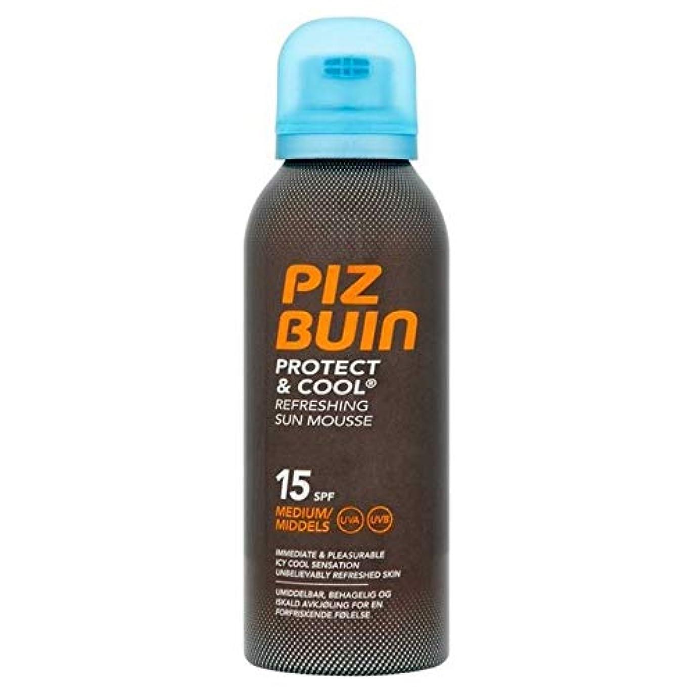 娯楽第二肥料[Piz Buin] ピッツのBuinのは、太陽のムースSpf15の150ミリリットルを保護&クール - Piz Buin Protect & Cool Sun Mousse SPF15 150ml [並行輸入品]