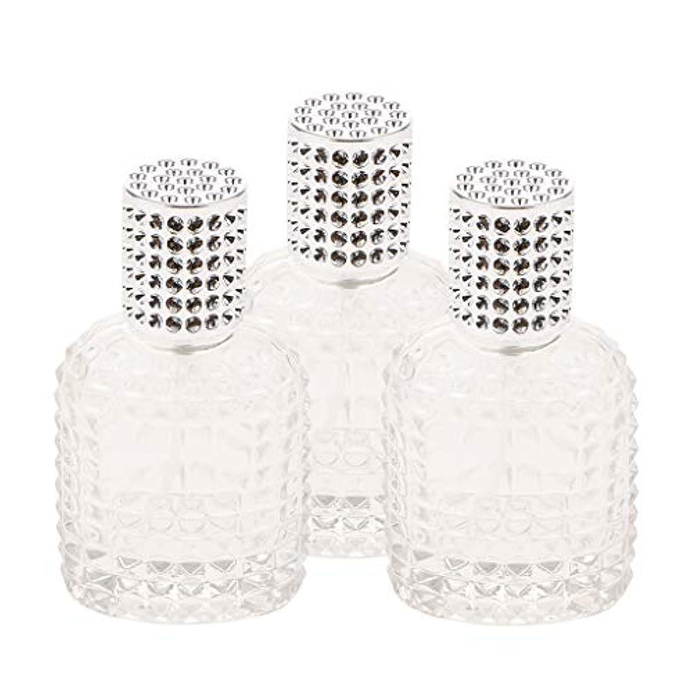 野な概してレタスミニ ガラス 香水瓶 パイナップル形 スプレー瓶 携帯用 詰め替え可能 50ml