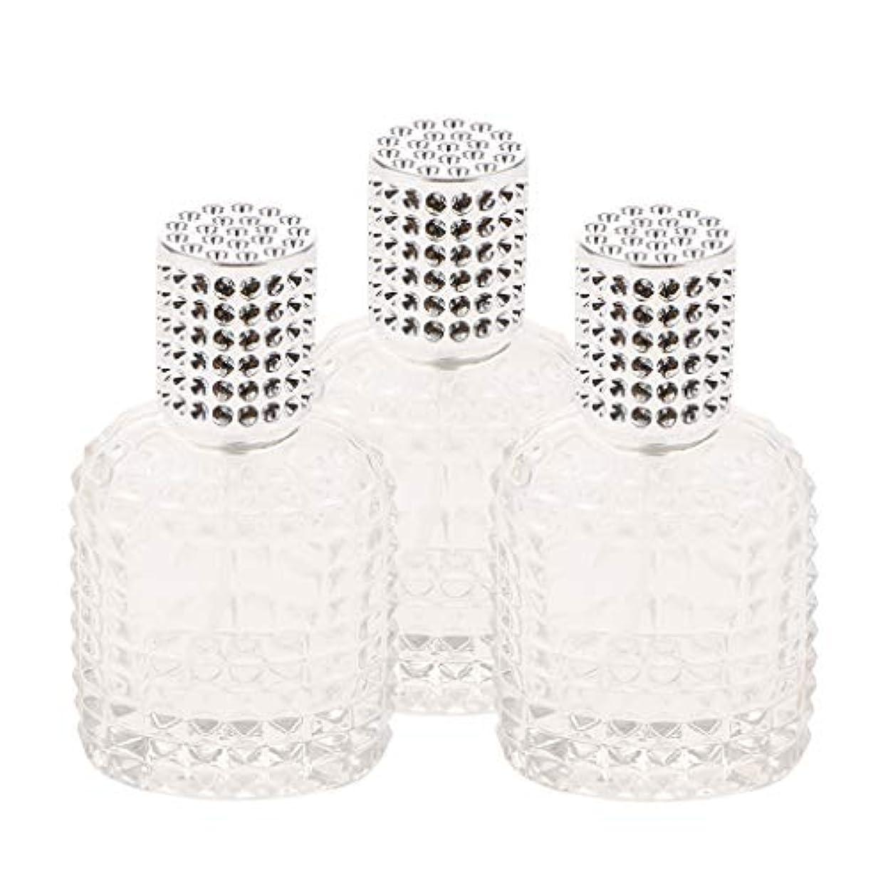 ルアー条件付き関税ミニ ガラス 香水瓶 パイナップル形 スプレー瓶 携帯用 詰め替え可能 50ml