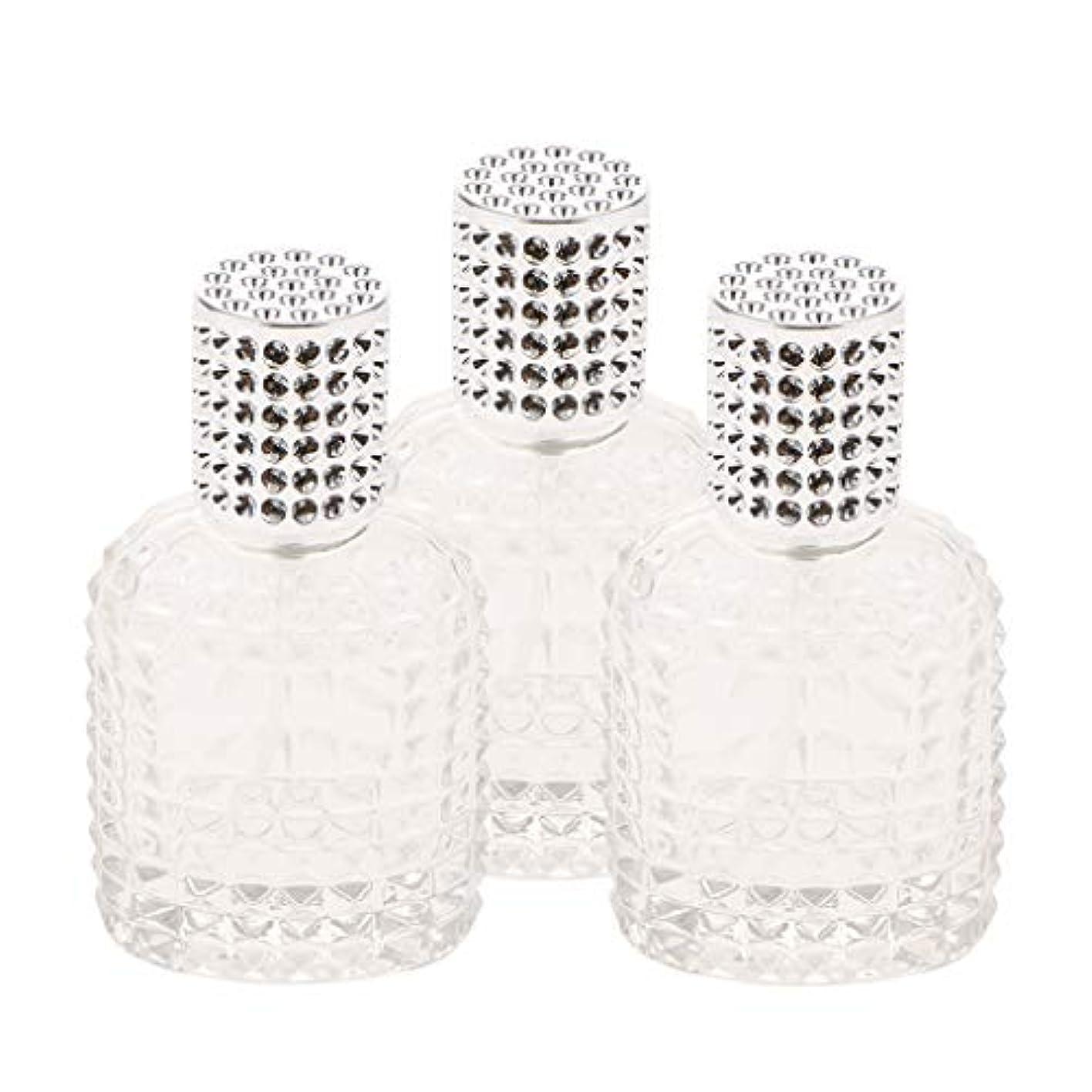 恋人人差し指リブミニ ガラス 香水瓶 パイナップル形 スプレー瓶 携帯用 詰め替え可能 50ml