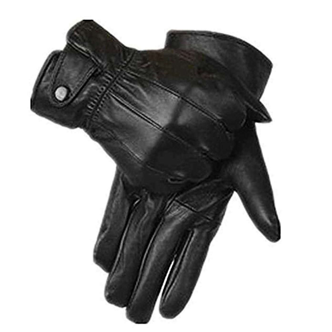 電信着飾る滴下Seliyiオートバイグローブ,レザーコーラルフリースサイクリング バイク ライディング 暖かい手袋 冬用 黒