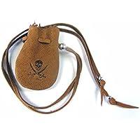 JAJABOON パイレーツ財宝袋 ミニサイズ ゴート(山羊皮)巾着 コインケース 茶