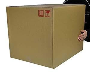 ダンボール箱140サイズ(段ボール箱)(W 52.0×D 43.0×H 41.2cm)1枚 強度アップ材質(中芯160g)(30L)引越し・保管・梱包用