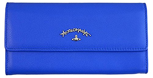Vivienne Westwood 【ヴィヴィアンウエストウッド】 ホックボタン開閉式長財布 321245 BLUE ブルー