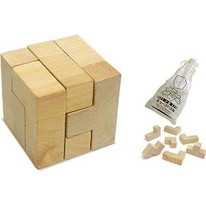 木製キューブパズル