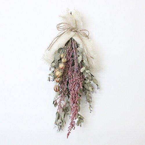 A plus floral art ナチュラル ドライフラワー スワッグ ユーカリ インテリア 壁掛け ブーケ ギフト