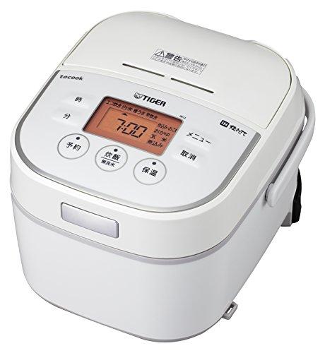 タイガー IH 炊飯器 3合 ホワイト レシピ付 tacook...