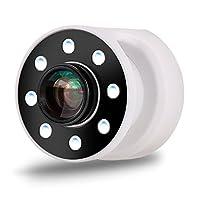 【herring】スマホ用カメラレンズ 3点セット LEDライト 0.67X広角レンズ 10Xマクロレンズ フラッシュ 4段階の明るさ調整 自撮りレンズ ワイドレンズ マクロレンズ 簡単装着 (ホワイト)