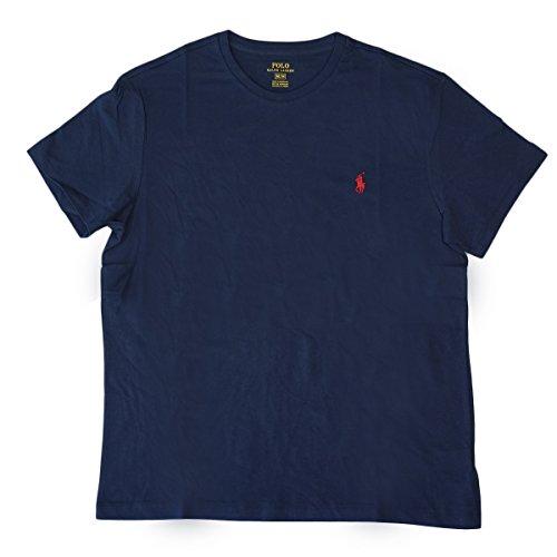 (ポロ ラルフローレン)POLO Ralph Lauren 半袖 Tシャツ ワンポイント メンズ クルーネック ネイビー×レッド XL [並行輸入品]