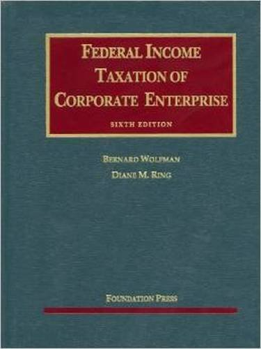 Download Federal Income Taxation of Corporate Enterprise (University Casebook) 1599418886