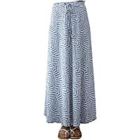 The Boutique Shop Women's Daily Long Geometric Pattern Non Stick Maxi Drawstring Skirt/Made in Korea