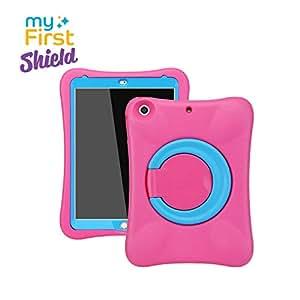 """【子供達に優しい】Oaxis myFirst Shield for iPad 9.7"""" 2017/2018/Air1/Air2 耐衝撃 EVA 超軽量 ソフト スマートカバー スタンド付き iPad2018第6世代ケース iPad2017第五世代ケース ipadプロ11カバー アイパッドA1893 A1954 ケース ピンク"""