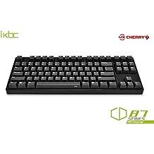 IKBC CD87 PBT Tenkeyless Mechanical Gaming Keyboard with Cherry MX Red Switch, Black Case