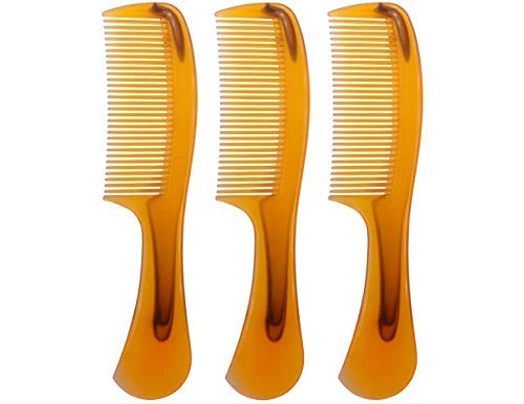 農場ぞっとするような気をつけてLBY 3pcs 16 cm Hair Comb Round Handle Comb Hair Care Comb Plastic Yellow [並行輸入品]