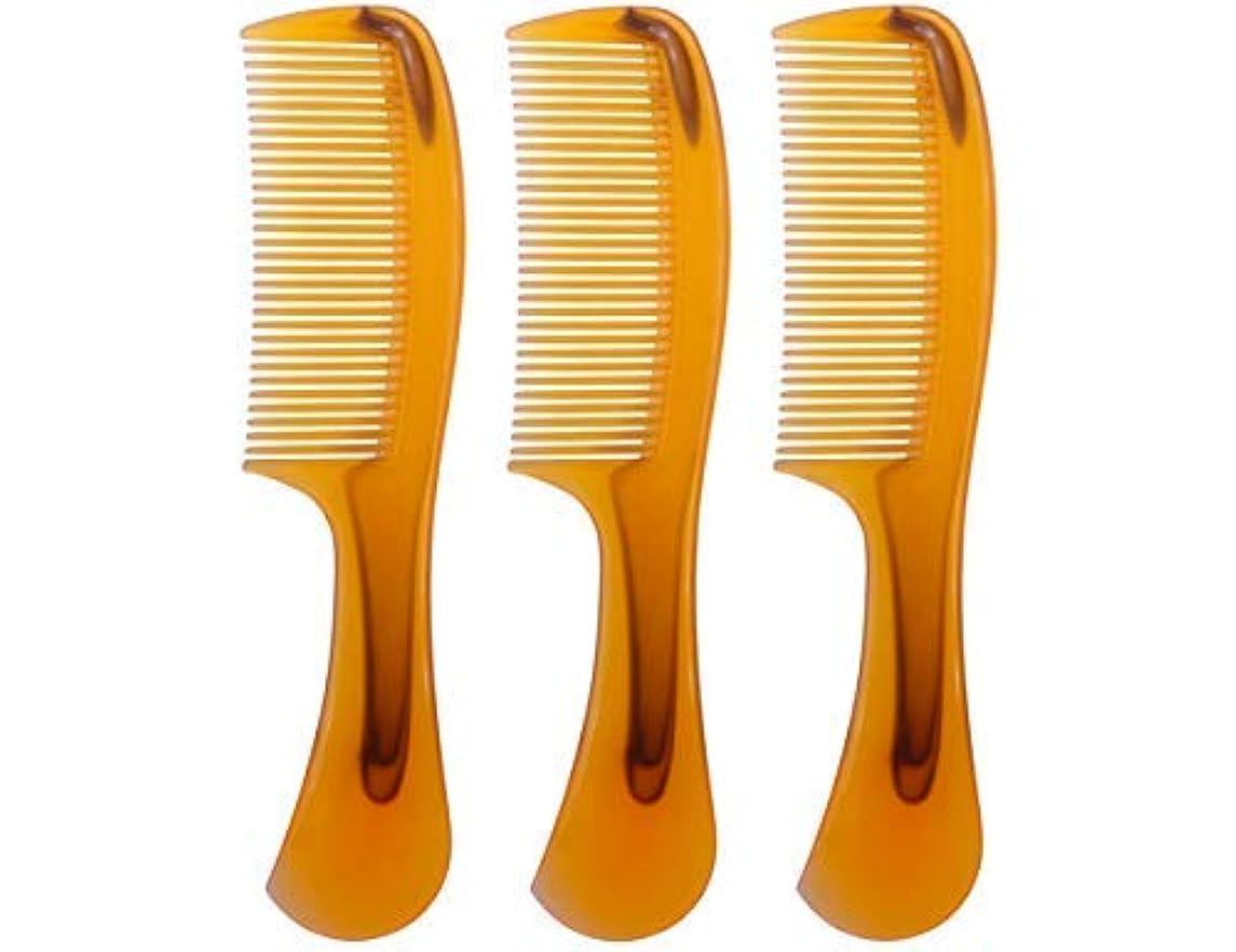 皮肉な暴徒偶然LBY 3pcs 16 cm Hair Comb Round Handle Comb Hair Care Comb Plastic Yellow [並行輸入品]
