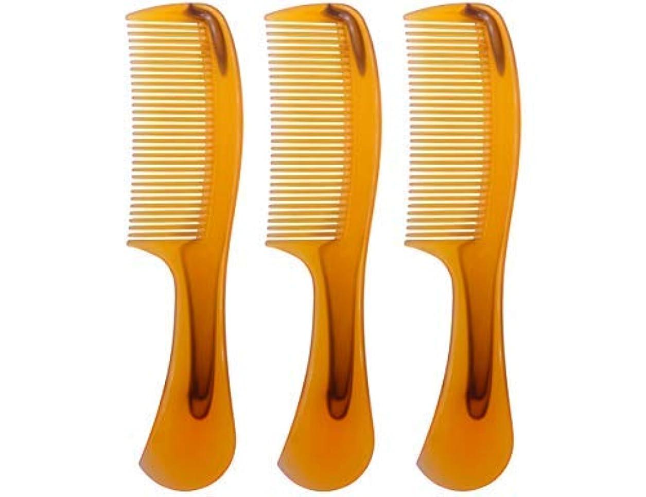 人差し指打倒キャンプLBY 3pcs 16 cm Hair Comb Round Handle Comb Hair Care Comb Plastic Yellow [並行輸入品]
