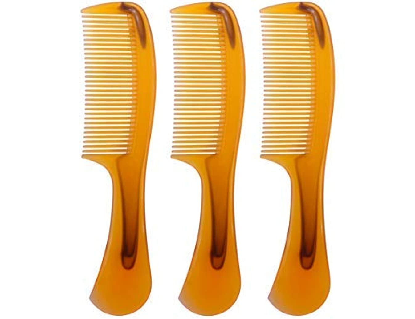 ファイアル関税罰LBY 3pcs 16 cm Hair Comb Round Handle Comb Hair Care Comb Plastic Yellow [並行輸入品]