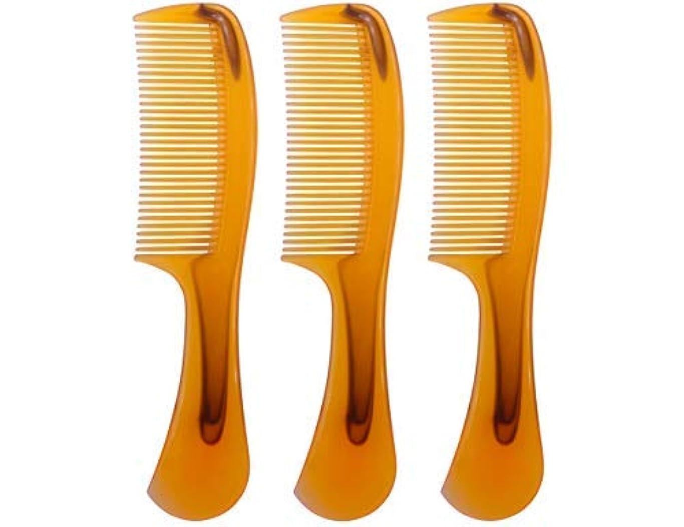肥沃なあらゆる種類の用心するLBY 3pcs 16 cm Hair Comb Round Handle Comb Hair Care Comb Plastic Yellow [並行輸入品]