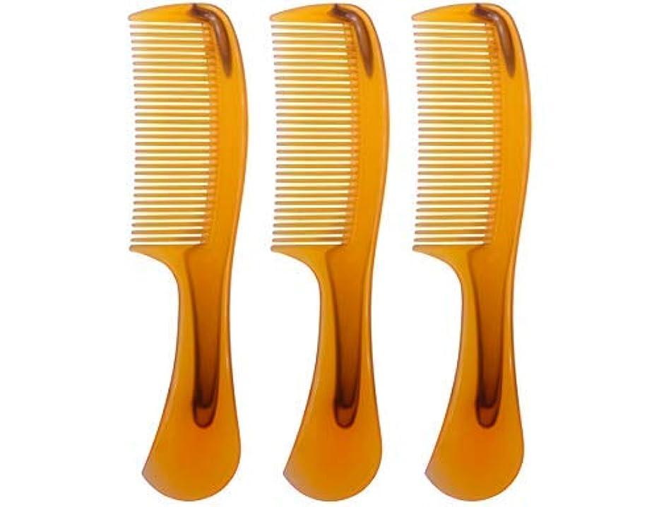 表面的な展示会ナインへLBY 3pcs 16 cm Hair Comb Round Handle Comb Hair Care Comb Plastic Yellow [並行輸入品]