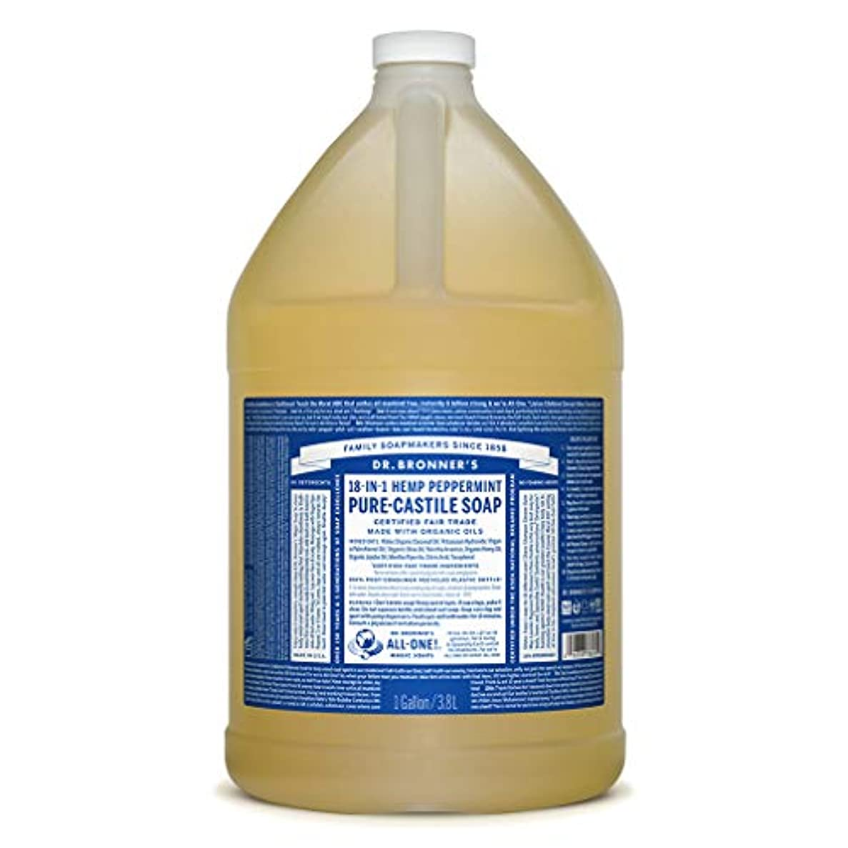 精神的に服カラスドクターブロナー マジックソープ液体 ペパーミント 3785ml
