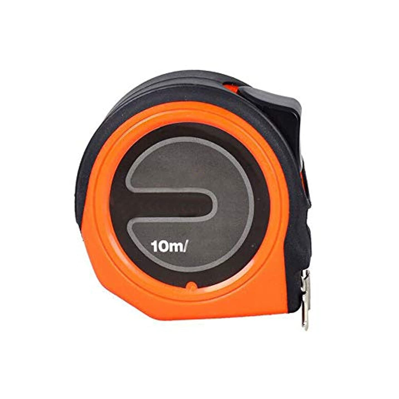 制限する十年ヘルパーBoyuanweiye001 スチール巻き尺、10メートル高精度メートルインチインチ巻き尺、装飾用木工測定定規10メートル* 25ミリメートル 高品質 (Color : Black Orange, Size : 10m*25mm)