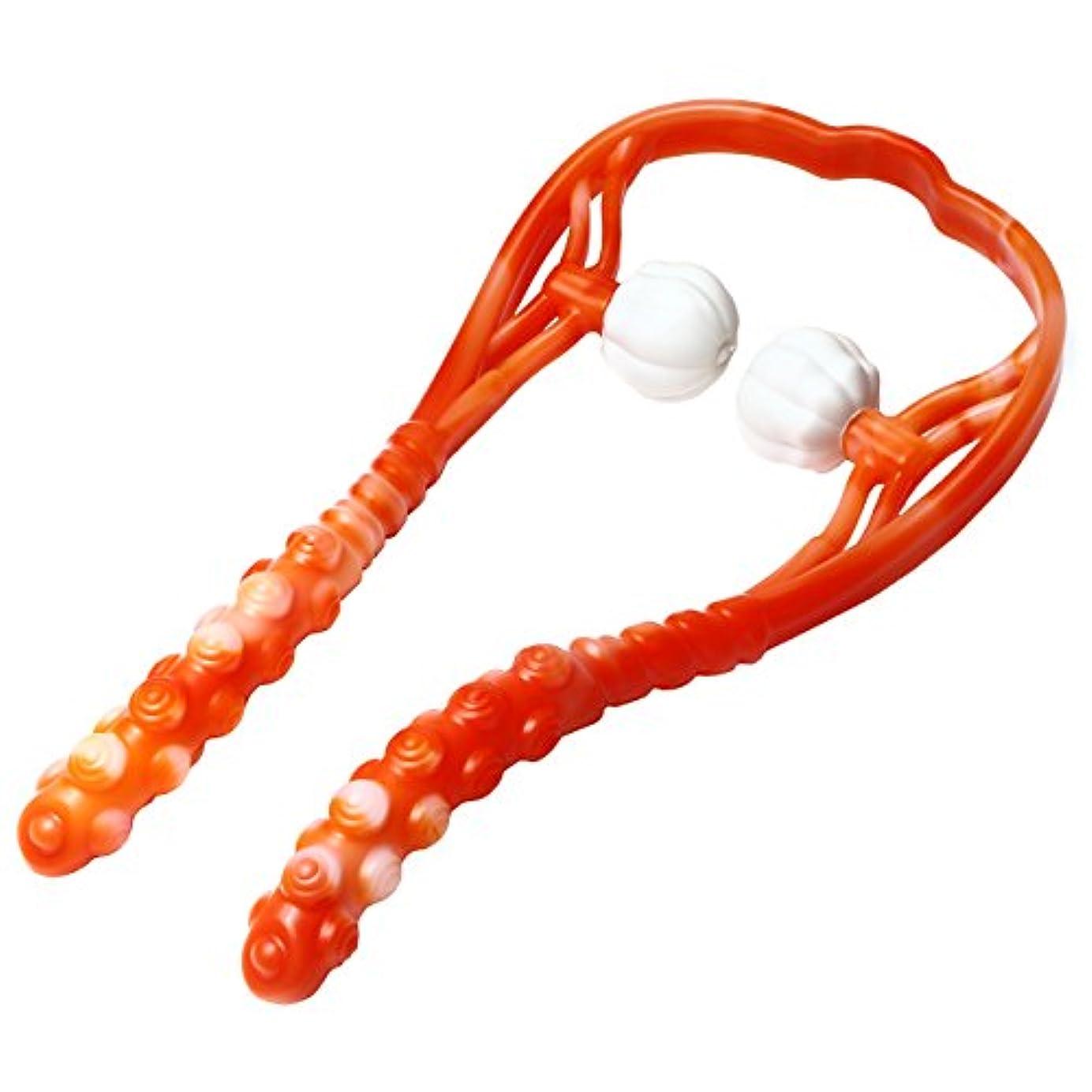 フィクションブース別に(ムジナ) mujina ネックマッサージャー ツボ押し 指圧代用 (オレンジ)