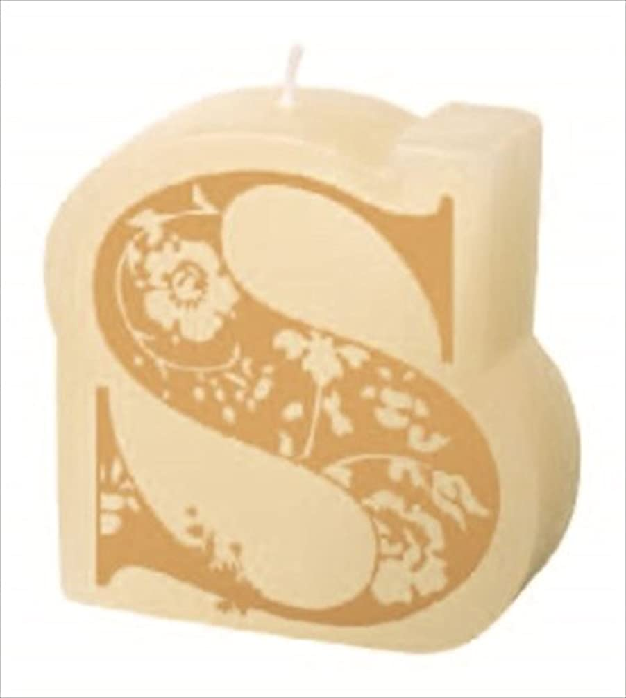 ロードハウス前部バナーカメヤマキャンドル(kameyama candle) イニシャルキャンドルミニ 「 S 」