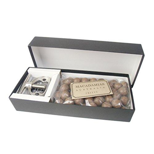 殻付きマカダミアナッツ (ロースト) (500g) 専用殻割り器付き ギフトセット (化粧箱入り)